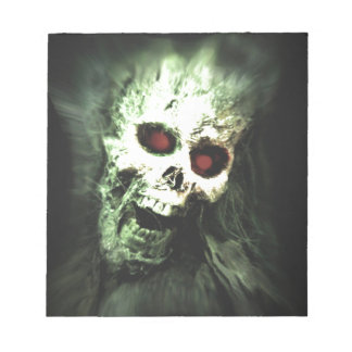 Scary screaming skull notepad