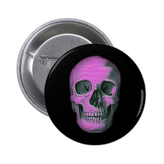 Scary Scull Pinback Button