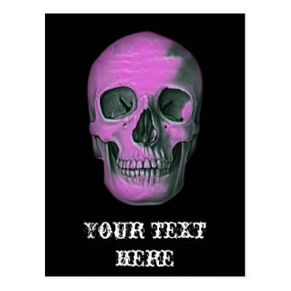 Scary Scull Postcard