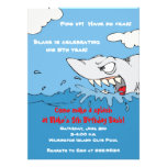 Scary Shark Birthday Pool Party Invite