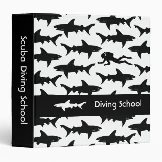 Scary Sharks and Scuba Diver / Diving School Binder