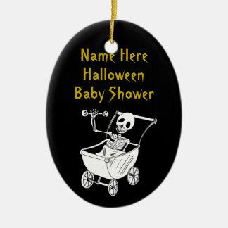 Scary Skeleton Baby Shower Keepsake Ornaments