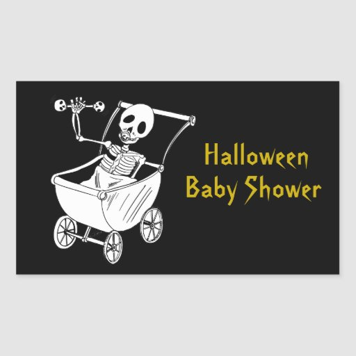 Scary Skeleton Baby Shower Rectangle Stickers