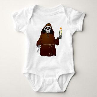 Scary Skeleton Monk Baby Bodysuit