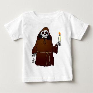 Scary Skeleton Monk Baby T-Shirt