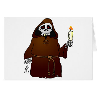Scary Skeleton Monk Card