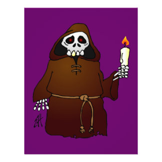 Scary Skeleton Monk Personalized Flyer