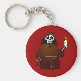 Scary Skeleton Monk Keychain