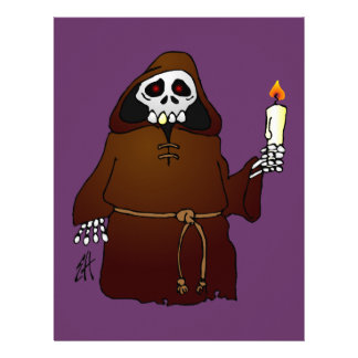 Scary Skeleton Monk Letterhead