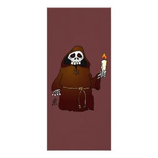 Scary Skeleton Monk Rack Card