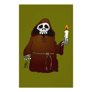 Scary Skeleton Monk Stationery