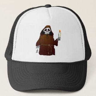Scary Skeleton Monk Trucker Hat