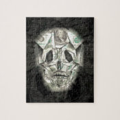 Scary Skull Black Puzzle
