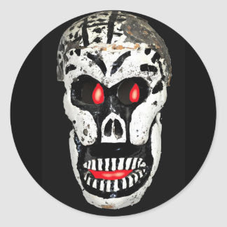 Scary Skull Classic Round Sticker