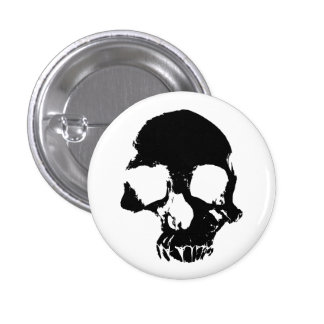 Scary skull cool gothic 1 inch round button