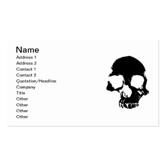 Scary skull cool gothic business cards business card templates