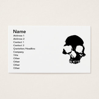 Scary skull cool gothic business cards