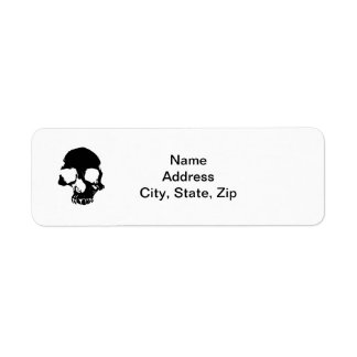 Scary skull cool gothic return address labels