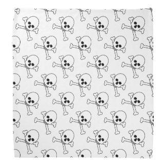 Scary Skull Crossbones Halloween Accessories Bandana