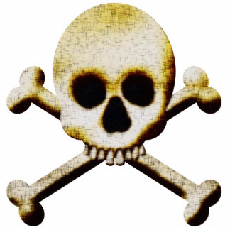 Scary Skull Crossbones Halloween Decoration Cutout