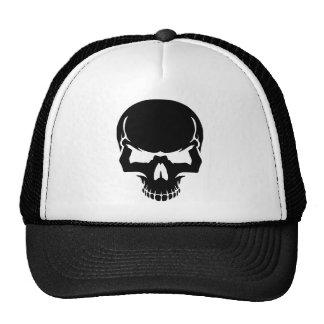 Scary skull face mesh hats