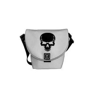Scary skull face messenger bags