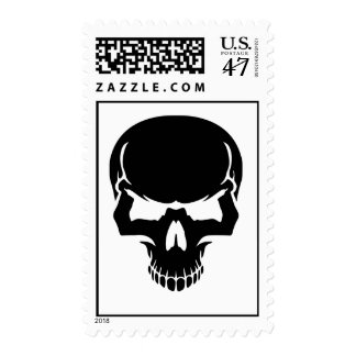Scary skull face postage