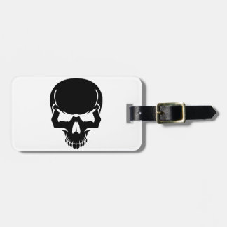 Scary skull face tag for bags