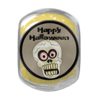 Scary Skull Halloween Jelly Belly Candy Jar