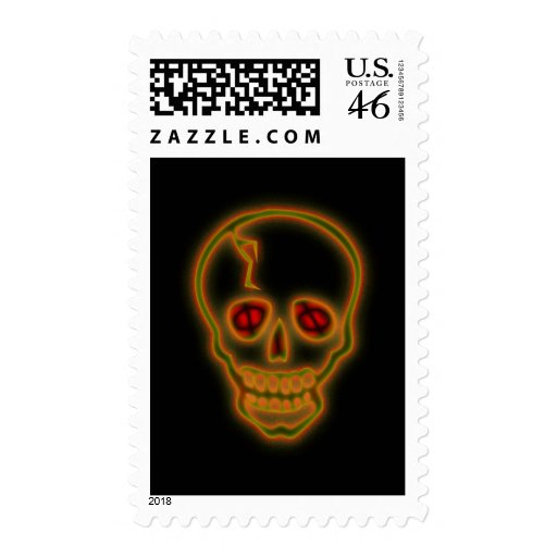 Scary Skull Postage Stamp