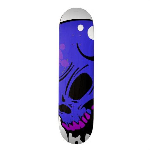 Scary Skull Skateboard