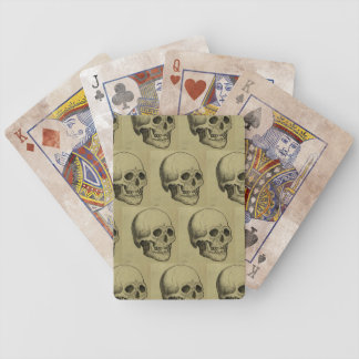 Scary Skulls Halloween Bicycle Playing Cards