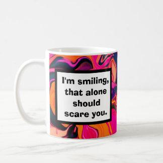 scary smile joke classic white coffee mug