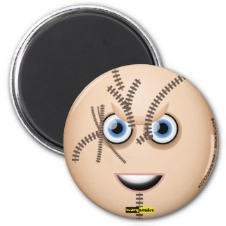 Scary Smiles - Chucky 2 Inch Round Magnet