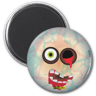 Scary Smiles -  Zombie 2 Inch Round Magnet