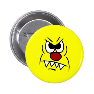 Scary Smiley Face Grumpey Pins