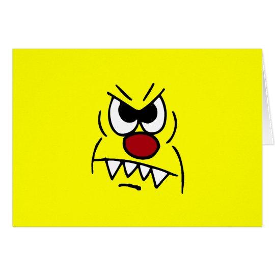 Scary Smiley Face Grumpey Card