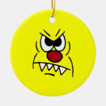 Scary Smiley Face Grumpey Christmas Tree Ornament