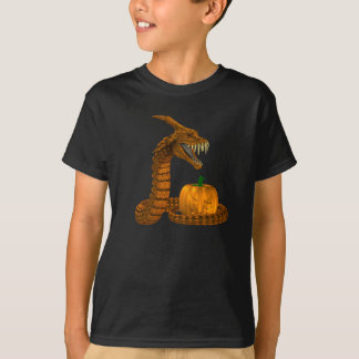 Scary Snake Protecting A Pumpkin T-Shirt
