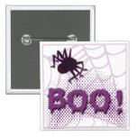 Scary spider 2 inch square button