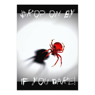 Scary Spider Halloween Invitation