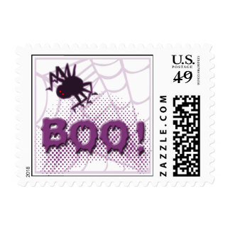 Scary spider stamps