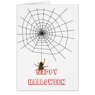 Scary spider web card