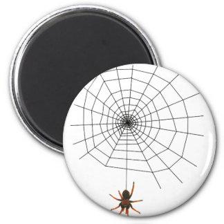 Scary spider web refrigerator magnet
