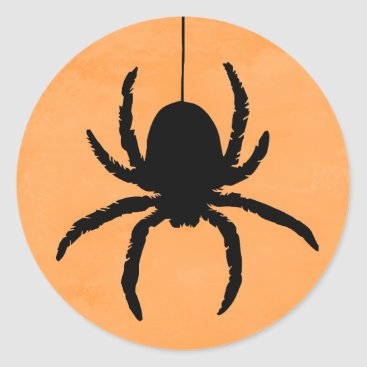 whimsydesigns Scary Spooky Halloween Spider Favor Stickers