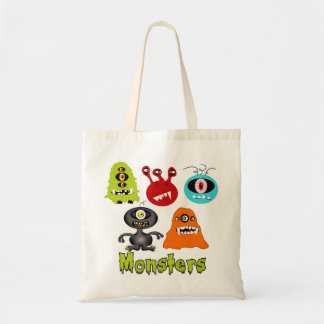Scary Spooky Monsters Aliens Creatures Canvas Bags