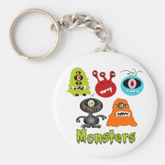 Scary Spooky Monsters Aliens Creatures Keychain