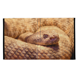 Scary Spotted Rattlesnake iPad Folio Covers
