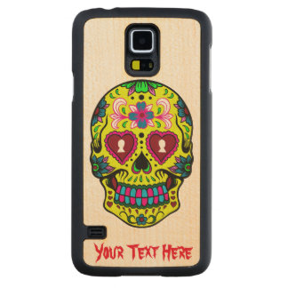 Scary Sugar Skull Carved® Maple Galaxy S5 Slim Case