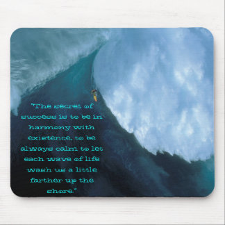 """scary surf, """"The secret of success is to be in ... Mouse Pad"""